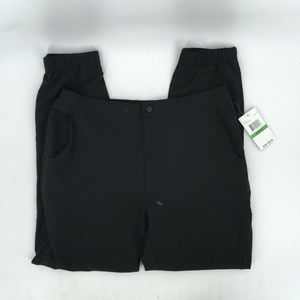 SPYDER WOVEN TAPERED JOGGER PANTS FRONTIER BLACK